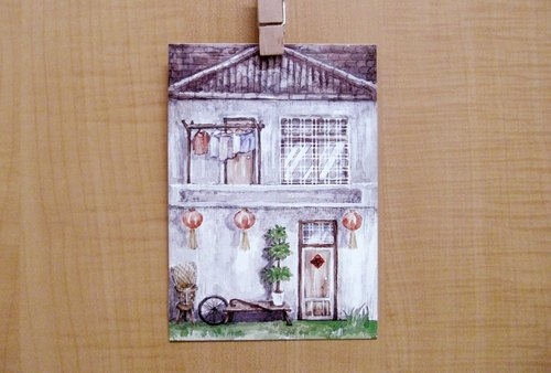 Taiwan Wenchuang old house / old house (after the house) / postcard postcard
