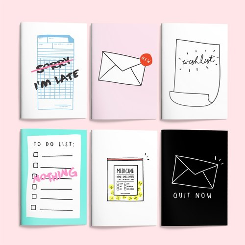 A5 illustrator notebook | a set of six discount equipment