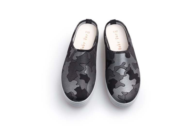 """Baby Day"" MIT pearl camouflage casual shoes ""women models' black and silver shoes paternity shoes"