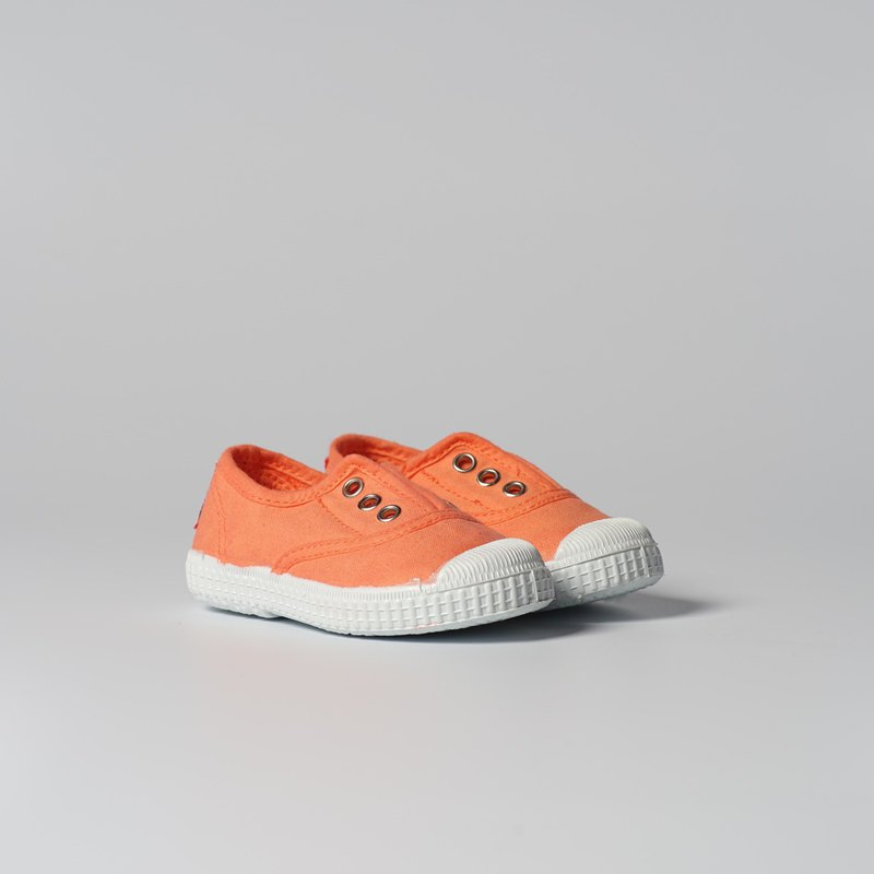 Spanish national canvas shoes CIENTA children's shoes size orange fragrance shoes 70997 17