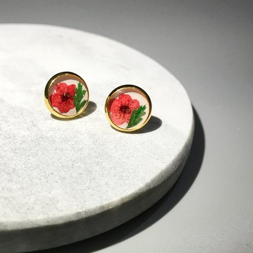 Classic Pressed Flower Earrings (經典押花耳環)
