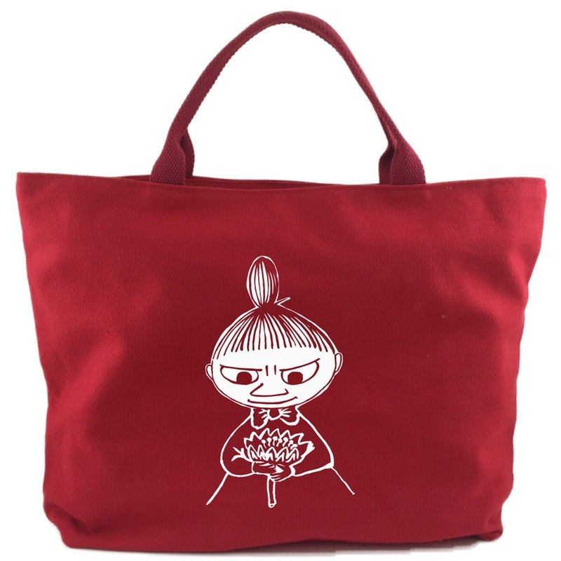 Moomin audible license - [zipper canvas bag - red] (large)