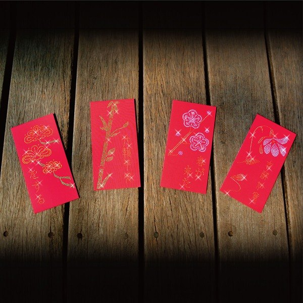 [Diamond] GFSD Collectibles - bright red envelopes Universal - [Three Friends of Winter fragrant orchids]