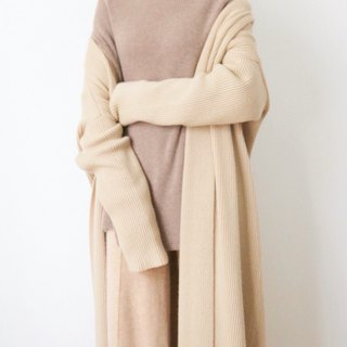 Forme Sweater - Semi-High Collar 80% Cashmere Wool Long Sweater (Outlet Sale)