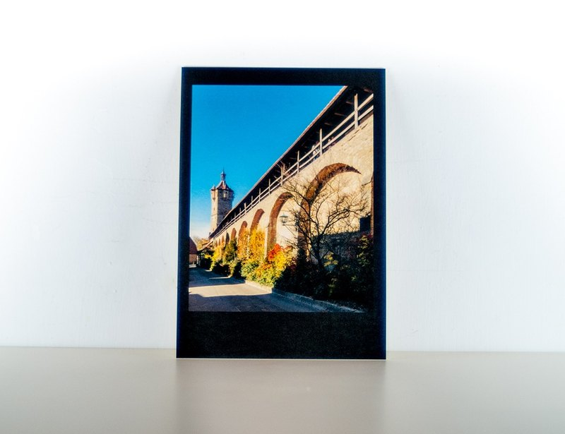 Photographic Postcard: Walls and towers, Rothenburg ob der Tauber, Germany