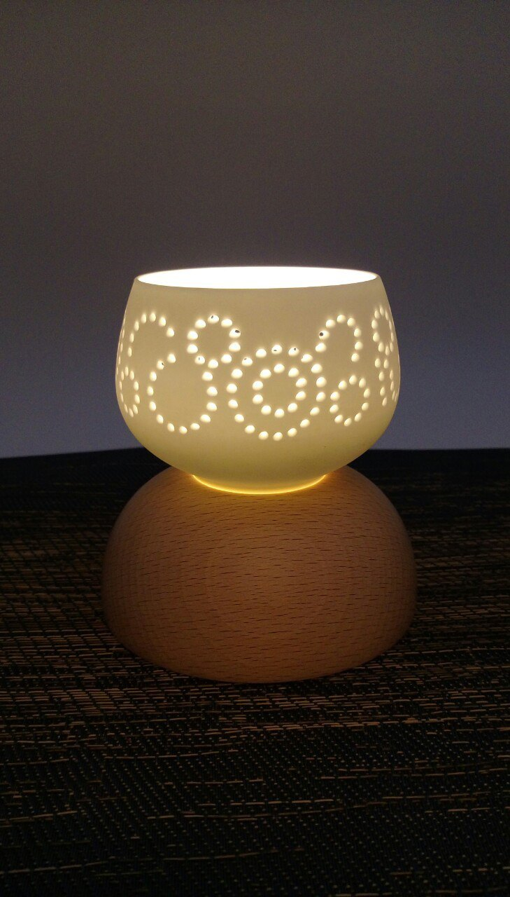 Flower window series hollow night light - point round - birthday Valentine's Day