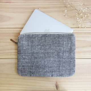 Medium Clutch Bags Hand Woven and Botanical Dyed Cotton Natural-Brown Color