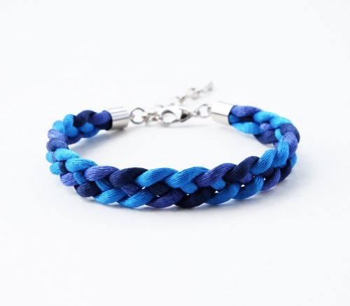 Navy blue braided bracelet