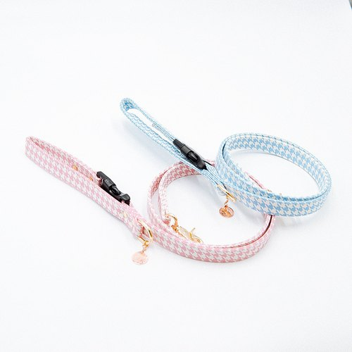 【Momoji】 Pet Leash - Houndstooth