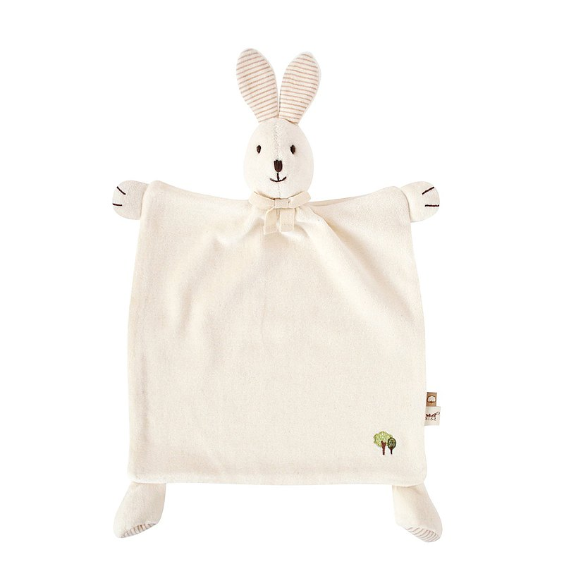 【SISSO organic cotton】 organic rice rice comfort handkerchief towel + multipurpose bibs clip group
