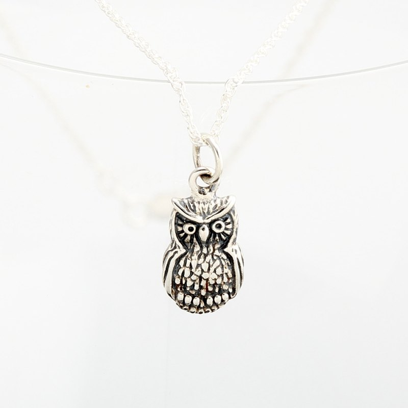 Cute Owl s925 sterling silver necklace Valentine's Day gift