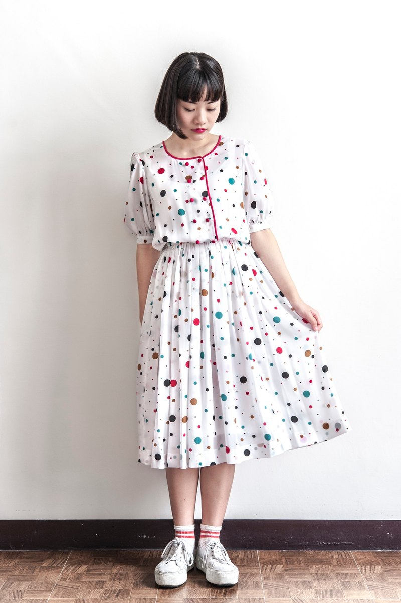 Vintage Colored Bubble Antique Dress