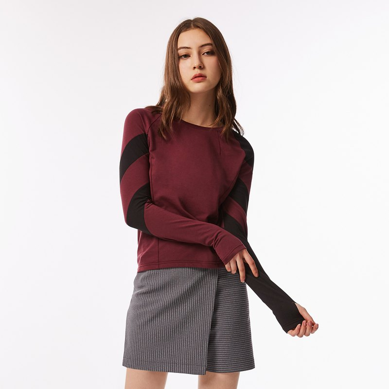 THot Asymmetrical Running Top (Plum)