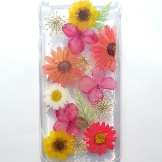 Handmade phone case, Pressed flowers phone case, iphone 6 plus phone case, The color of spring