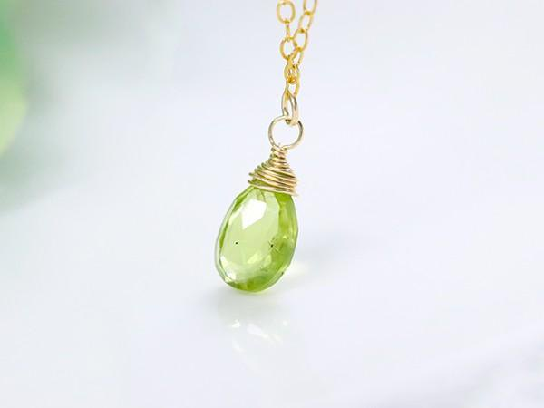 Happiness, Marital Love, Peace Peridot Necklace August Birthstone