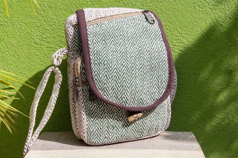 Natural cotton and linen storage bag / ethnic wind purse / camera bag / mobile phone bag / shoulder bag / card holder - green grass original