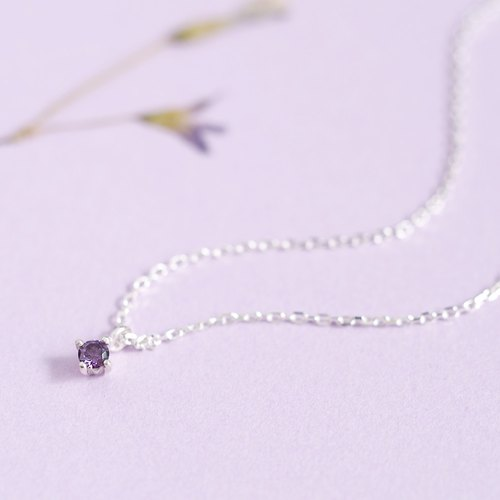Grain amethyst necklace 925