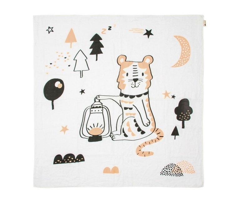 澳洲Kippins有機棉包巾-達西老虎DASH KIPPINTALE MUSLIN WRAP