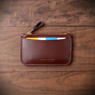 [NS handmade leather goods] zip coin purse, gift (Vicky wu custom)