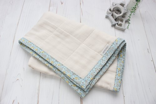Feminine floral border 6 double gauze packet (swaddling clothes, rug) made in Japan