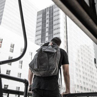 ORIBAGU Origami Pack _ Black Camo Rhino Backpack