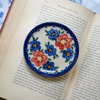 Poland hand-painting coaster (the little blue flower)