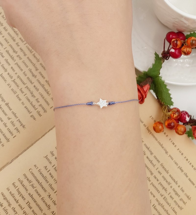 925 sterling silver stars shiny red line bracelet marriage line month old hand rope sky blue cute