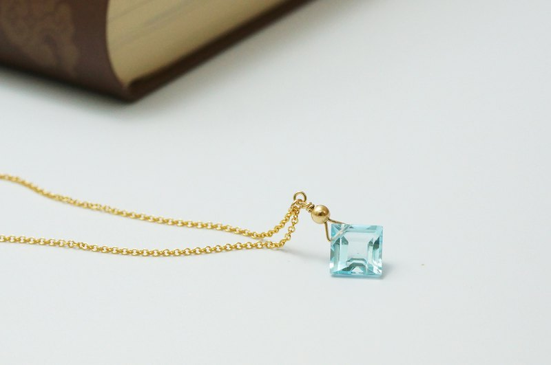 Golden Ocean Natural Topaz トパー Topaz American 14K Gold Necklace Light Jewelry