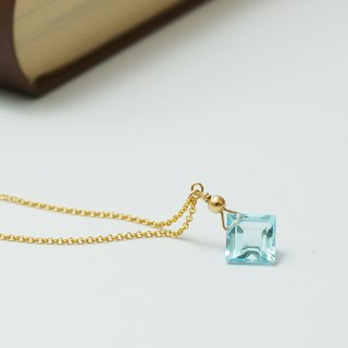 Golden Ocean Natural Topaz 14K Gold 1/20GF Gold Note Gold Necklace Light Jewelry