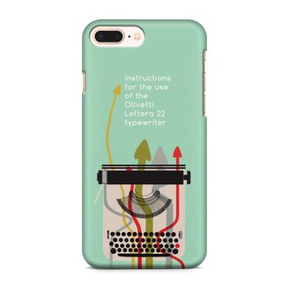 Type writer instruction - Green Phone case