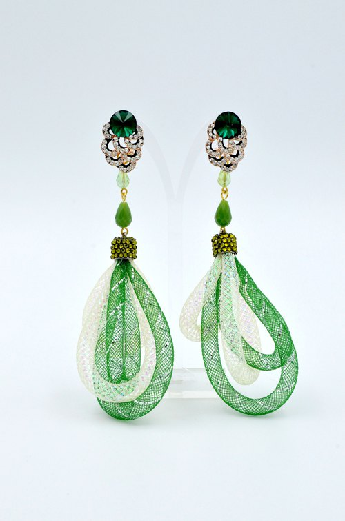 TIMBEE LO Crystal Flash Drill Ear Earrings
