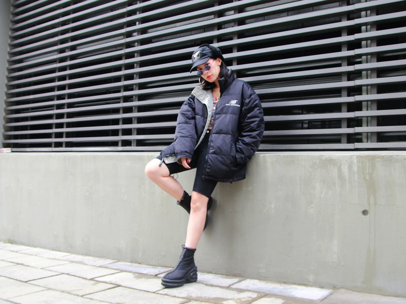 ///Fatty bone/// 90s vintage Vintage BALANCE double-faced down jacket