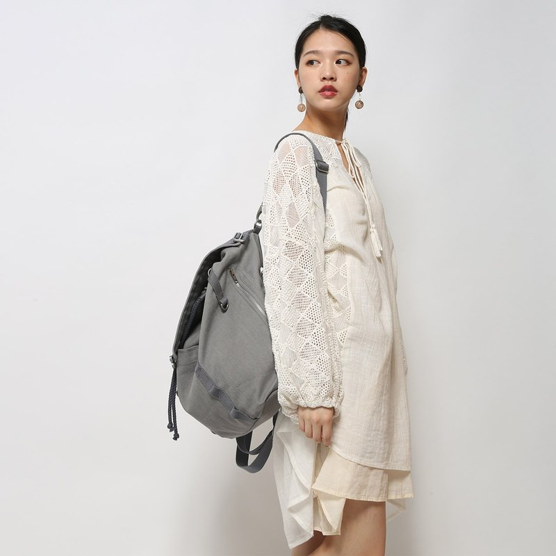 ▍ Variety bag backpack can be shoulder - shoulder - oblique shoulder with super good! Original rare - rate of gray