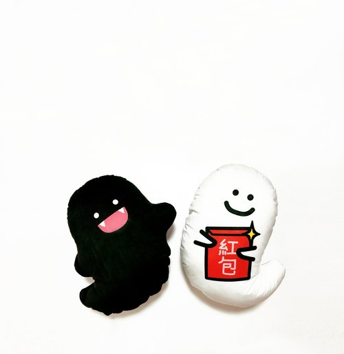 [Ghost cute ghost discuss New Year red envelopes pillow pillow lunch break pillow one pair]