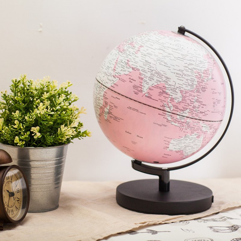 SKYGLOBE 10吋 pink pattern fog black base (with light / English version)