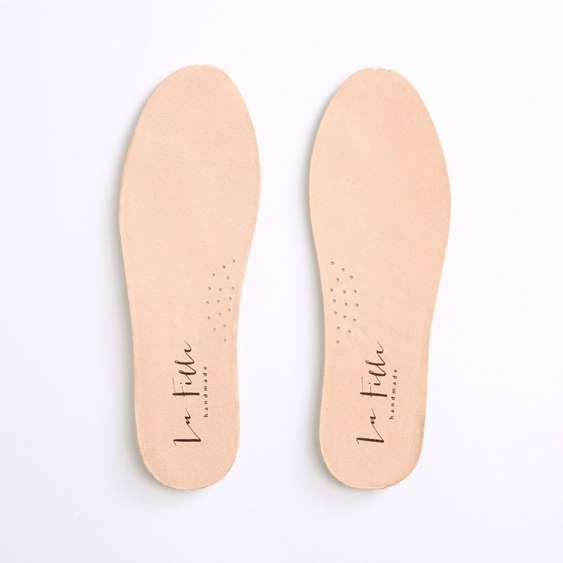 Leather sweat-absorbent comfortable soft insole