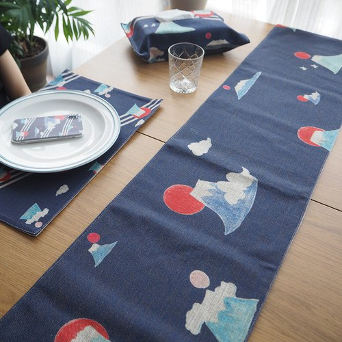 Various Fujiyama table flag table mat fabric design simple ins wind home decoration