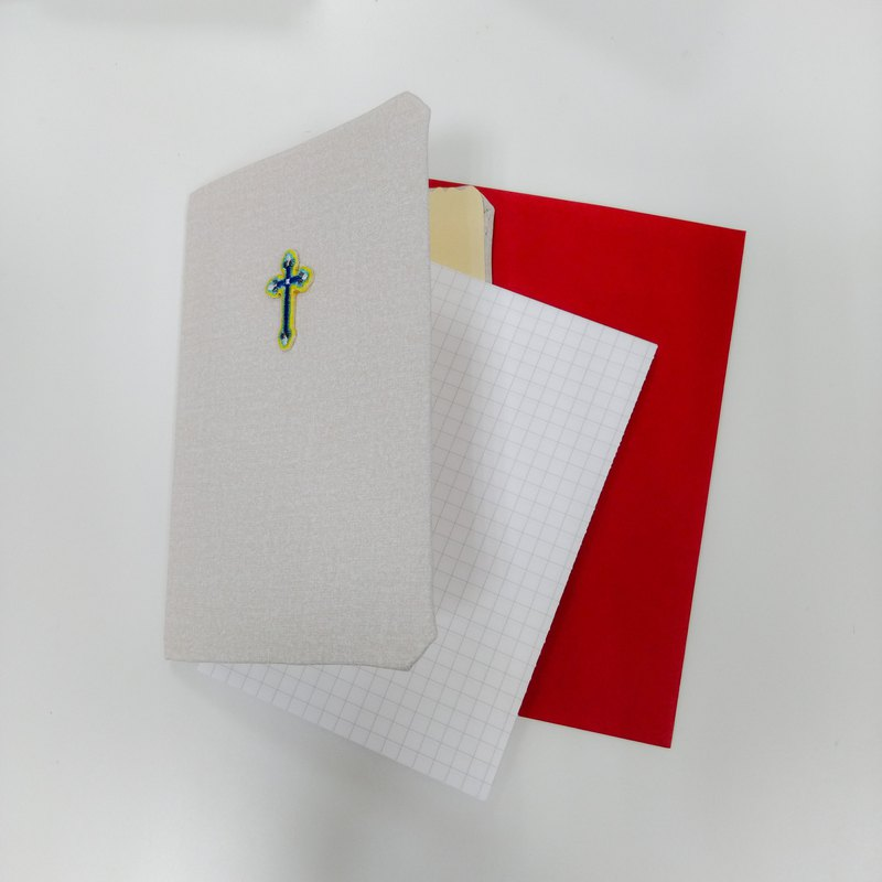 Christian Card Gospel Card - Pure Handmade Cross Embroidered Card - Quiet