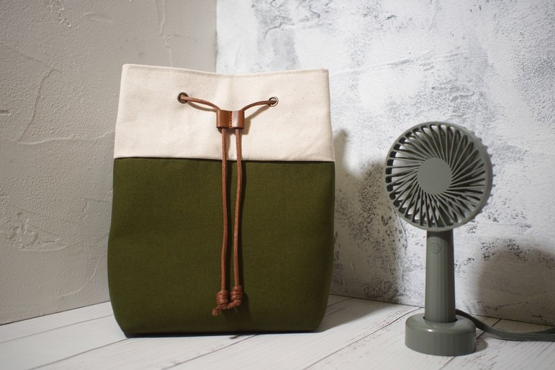 Traveler series cross-body bag / bucket bag / limited manual bag / olive green / off-the-shelf
