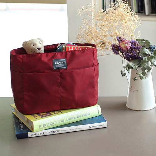 Small size-Backpack OK-INSIDE Bag Organizer-Dark red_100233-20