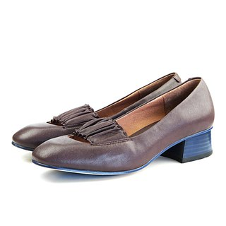Ballerina W1070 Brown Leather Pumps