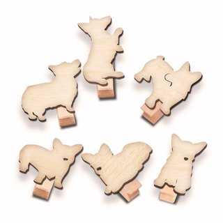 Stay cute Keji wood clip group (six into a group)