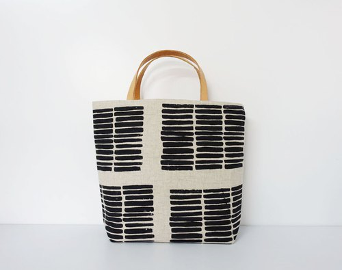 Screen printing  Tote bag  wood-black