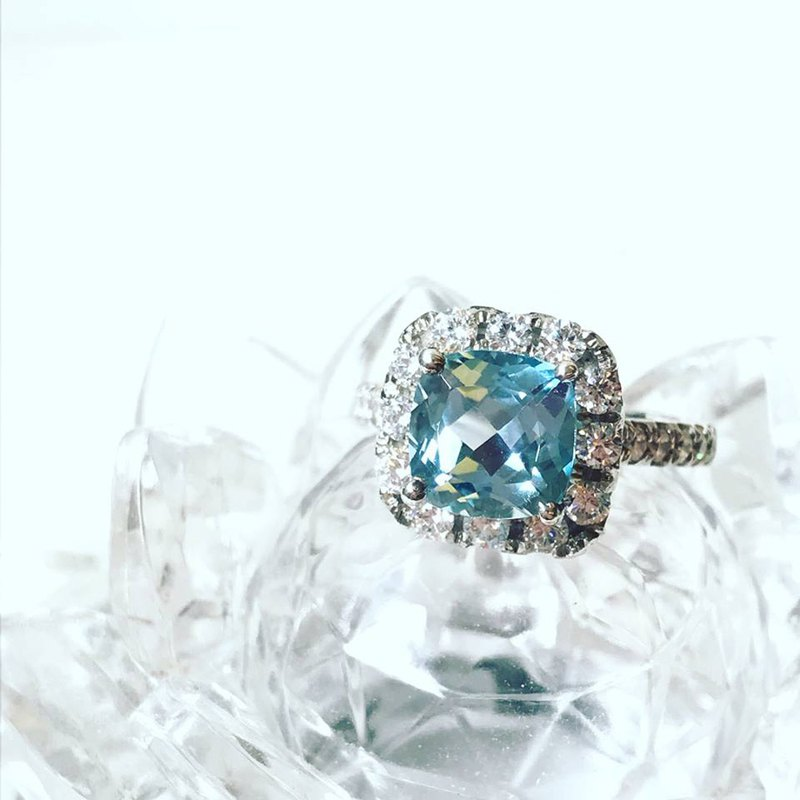 Classic blue Topaz Ring