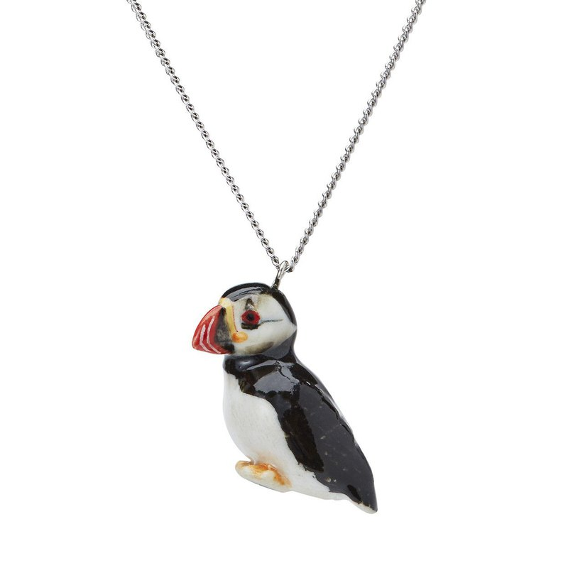 "And Mary  Baby Puffin  Necklace | 18""/22"" 