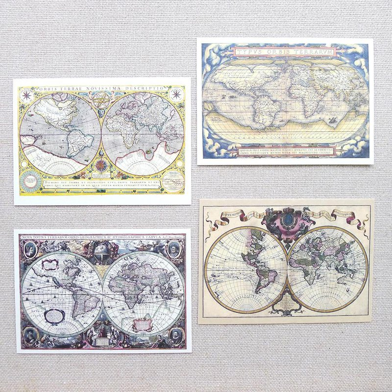 World old map A postcard (4 in or the same paragraph 5 in optional)