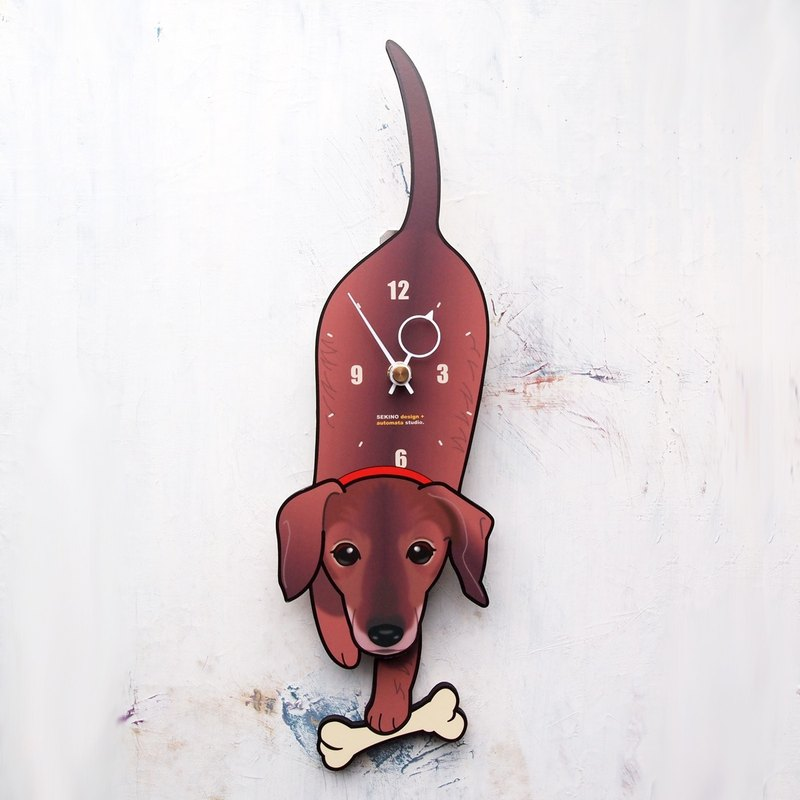 D-44 Smooth dachshund - Pet's pendulum clock