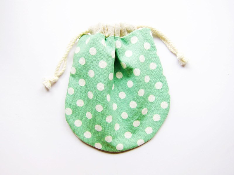 Drawstring pocket storage bag small bag mint (also choose other coin purse fabric patterns)