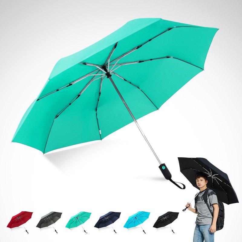 TDN省力回壓極簡超撥水自動開收傘超大防風雨傘(蒂藍)