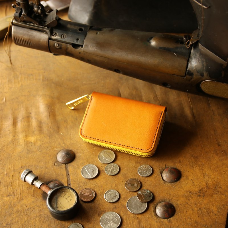 Japanese Manufacturers Money Costume Cowhide Tochigi Leather Production Waste Honey made in JAPAN handmade leather wallet coincase
